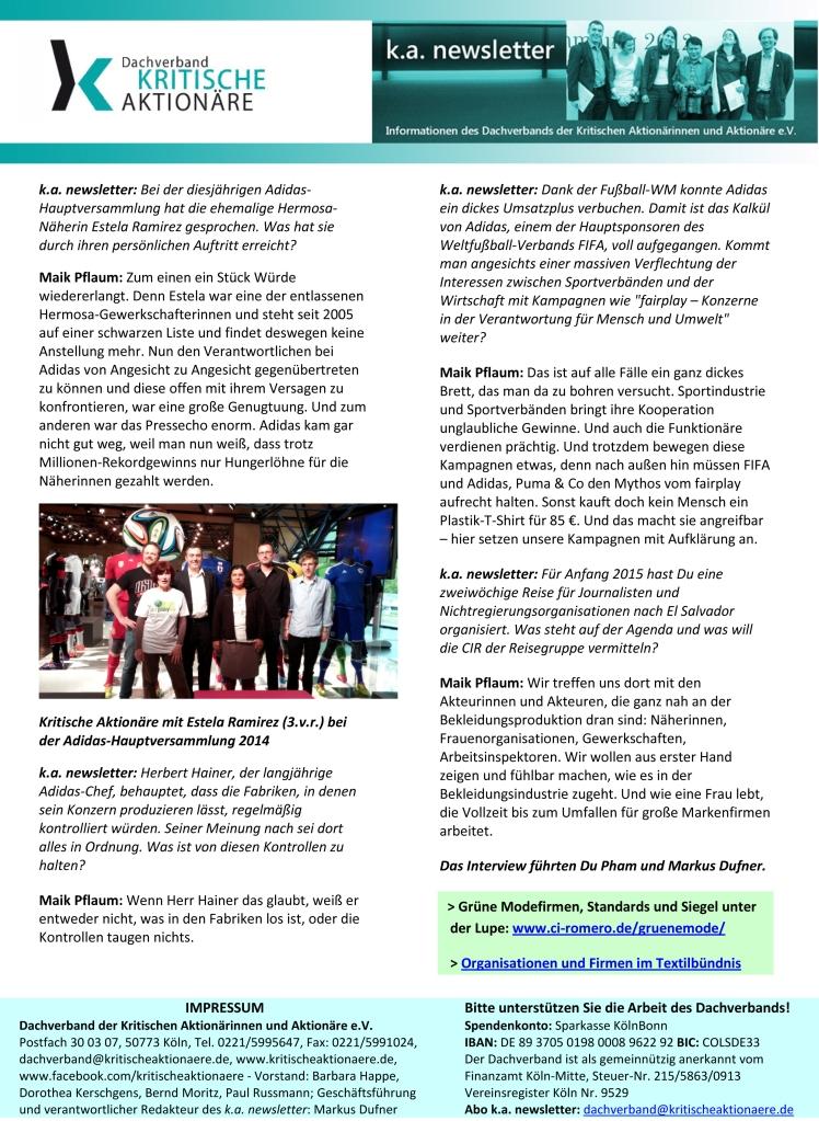 k.a. newletter Nr. 10_11-2014